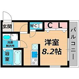 Osaka Metro長堀鶴見緑地線 横堤駅 徒歩5分の賃貸マンション 1階1Kの間取り