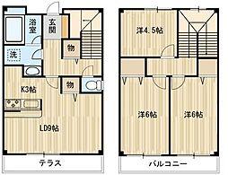 [テラスハウス] 東京都小平市花小金井7丁目 の賃貸【/】の間取り