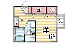 Sパセオ[2階]の間取り