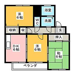 ヴァーテュー1[3階]の間取り