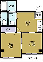 Kハイツ[4階]の間取り