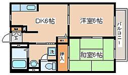 兵庫県神戸市長田区前原町1丁目の賃貸アパートの間取り