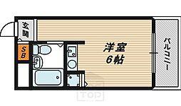 ワットハイム都島[5階]の間取り