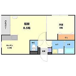 北海道札幌市白石区本通13丁目の賃貸マンションの間取り