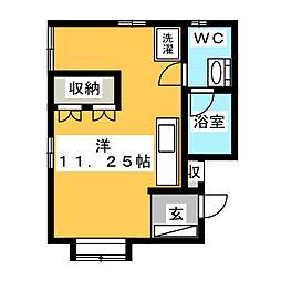 ティノチッタ EAST[2階]の間取り