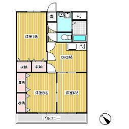 ブルーベリーズマンション[3階]の間取り