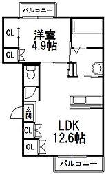 仮)明日風4丁目アパートII[3階]の間取り