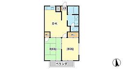 フラッツ東今宿[2階]の間取り