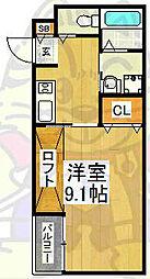 エヌエムキャラントサンク(ノース)[4階]の間取り