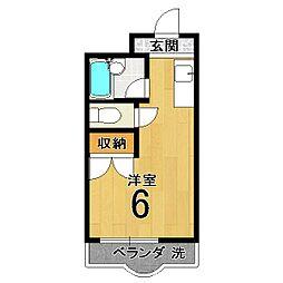 内藤マンション[303号室]の間取り