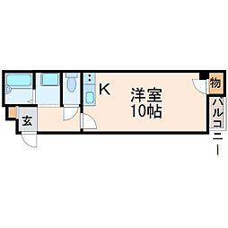 兵庫県西宮市本町の賃貸マンションの間取り