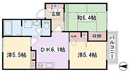 エミネンス早川A[1階]の間取り