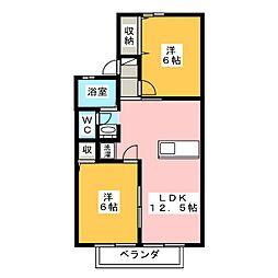 ヒューチャー21 C棟[2階]の間取り