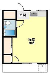 愛知県岡崎市若松町字東荒子の賃貸マンションの間取り
