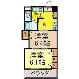 プレステ−ジ名古屋[6階]の間取り