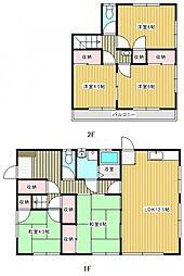 [一戸建] 茨城県取手市新町6丁目 の賃貸【/】の間取り