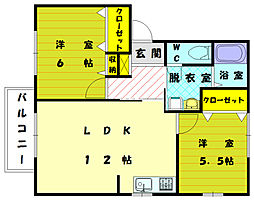 ファミーユKII[1階]の間取り