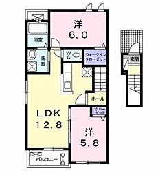 グランディールIII[2階]の間取り