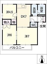 コスモパーク PartII[2階]の間取り