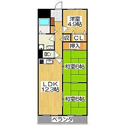 セブンマンション(ベルヴィ51)[403号室]の間取り