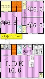 [一戸建] 千葉県松戸市栄町西5丁目 の賃貸【/】の間取り