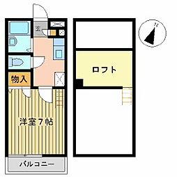 ベルハウス・レモンB棟[205号室]の間取り