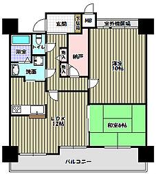 ソワール新檜尾台[14階]の間取り