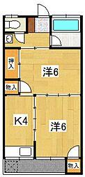 コーポ扇荘[202号室号室]の間取り