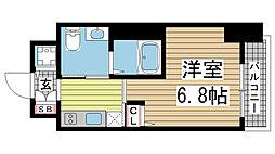 ファーストフィオーレ神戸元町 4階1Kの間取り