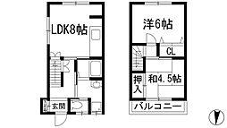 [一戸建] 兵庫県川西市南花屋敷1丁目 の賃貸【/】の間取り