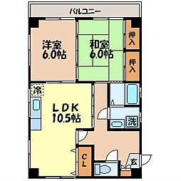 STATION M・G 平和町[203号室]の間取り