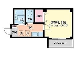 東京都世田谷区豪徳寺1丁目の賃貸マンションの間取り