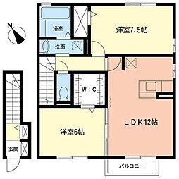 クレストクレール[2階]の間取り