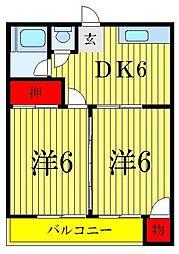 村田コーポ[2階]の間取り