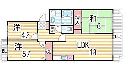JAパストラルII[202号室]の間取り