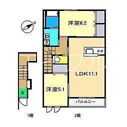 ロイヤル ソフィア[2階]の間取り