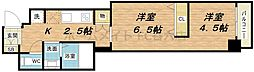 インザグレイス心斎橋[5階]の間取り
