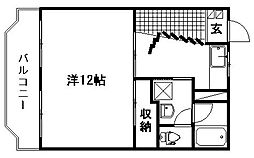 ルームミニオンA[3階]の間取り