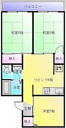 プレミールたつみ[2階]の間取り