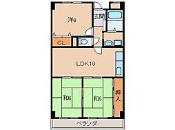マンションニューハマ1[1階]の間取り