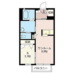 ラフィネド・メゾンII[2階]の間取り