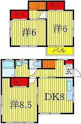 [一戸建] 千葉県白井市冨士 の賃貸【/】の間取り