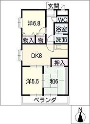ソシア松本[1階]の間取り