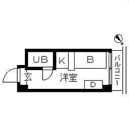 TOPROOM・横浜[1003号室]の間取り