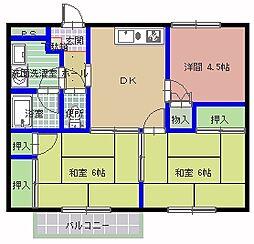 ロマニー岡崎[2階]の間取り
