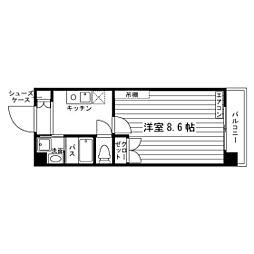 タワーパレス THE YUUKI[10階]の間取り