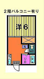神奈川県横浜市戸塚区下倉田町の賃貸アパートの間取り