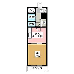 ウェルメイドK[1階]の間取り