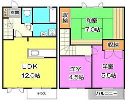 [テラスハウス] 東京都練馬区東大泉6丁目 の賃貸【/】の間取り