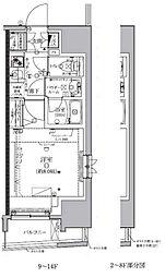 クレイシア板橋モデルノ[12階]の間取り